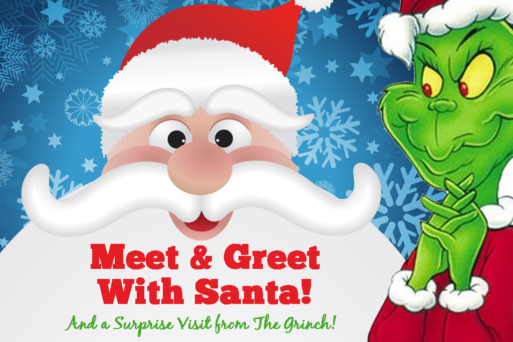 Meet and greet with santa and grinch cool crest mini golf meet and greet with santa and grinch m4hsunfo